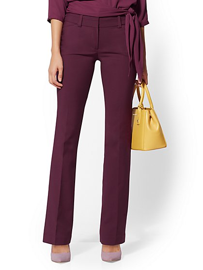 Tall Barely Bootcut Pant - Modern Fit - All-Season Stretch - 7th Avenue - New York & Company