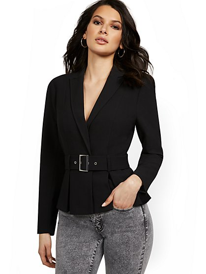 Tall Belted Peplum Jacket - New York & Company