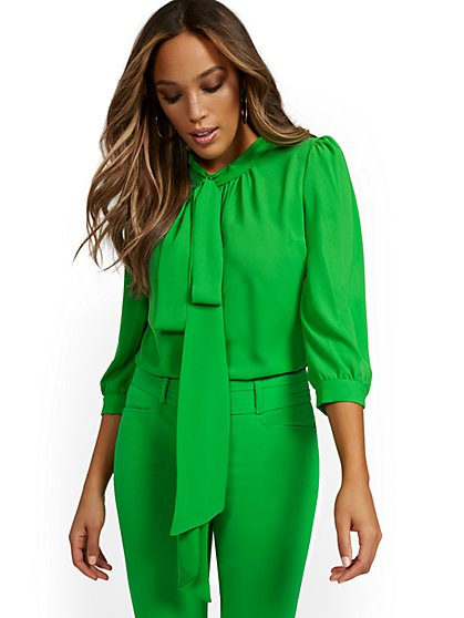 Tall Bow Blouse - 7th Avenue - New York & Company