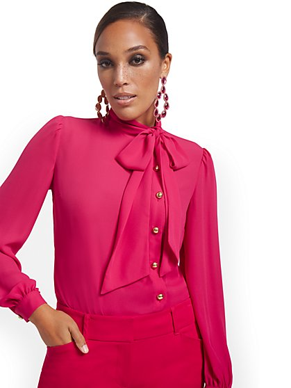 Tall Bow-Neck Blouse - New York & Company