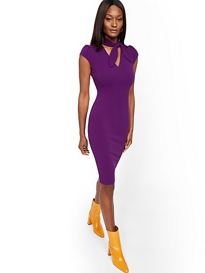 Tall Bow-Neck Sheath Dress - Magic Crepe® - New York & Company