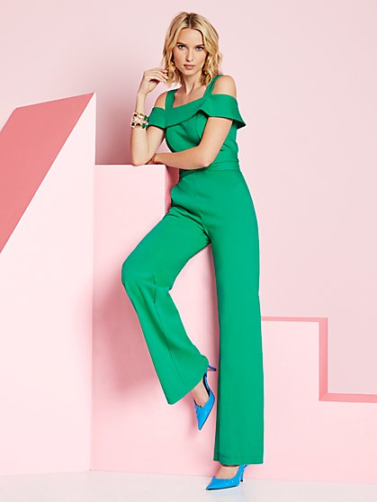 Tall Cold-Shoulder Jumpsuit - New York & Company
