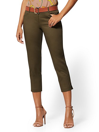 Tall Crop Slim-Leg Pant - Signature Fit - 7th Avenue - New York & Company