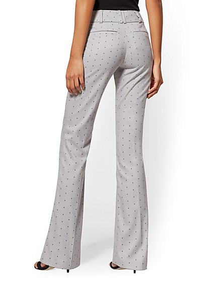 baabd05ad5a ... Tall Dot Bootcut Pant - Mid Rise - Grey - 7th Avenue - New York &