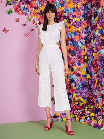 Tall Eyelet Cutout Jumpsuit - New York & Company