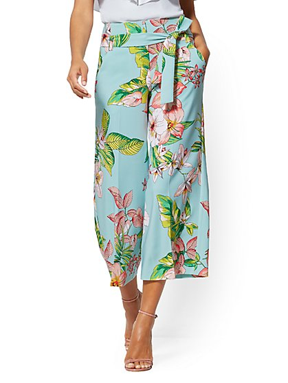 Tall Floral Madie Crop Pant - New York & Company