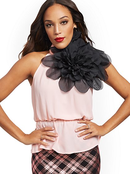 Tall Flower Halter Top - New York & Company