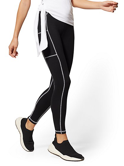 Tall High-Waisted Black Pocket Legging - New York & Company