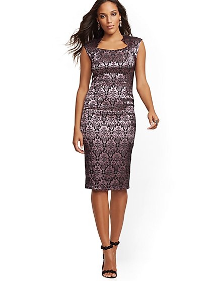 Tall Jacquard Sheath Dress - New York & Company