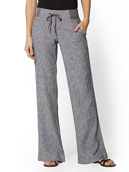 Tall Linen-Blend Wide-Leg Pant - Soho Street - New York & Company