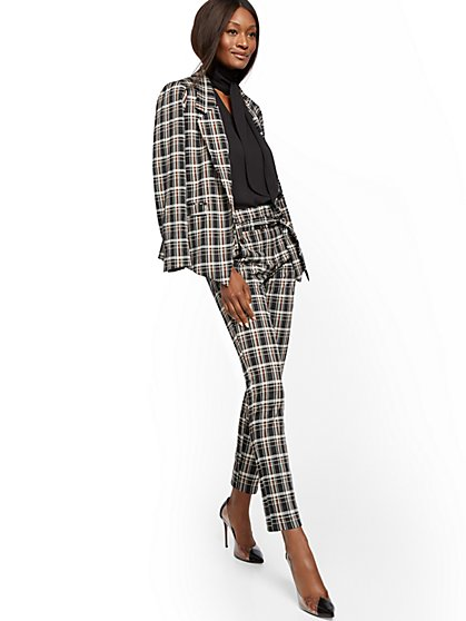 Tall Madie Pant - Plaid - 7th Avenue - New York & Company