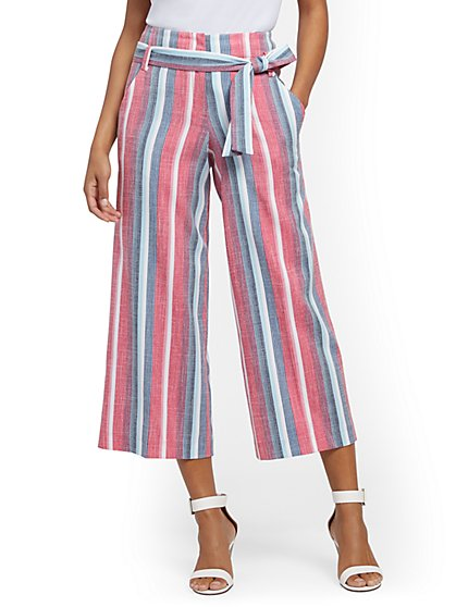 Tall Madie Wide-Leg Capri Pant - 7th Avenue - New York & Company