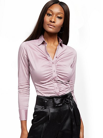 Tall Madison Stretch Shirt - Secret Snap - 7th Avenue - New York & Company