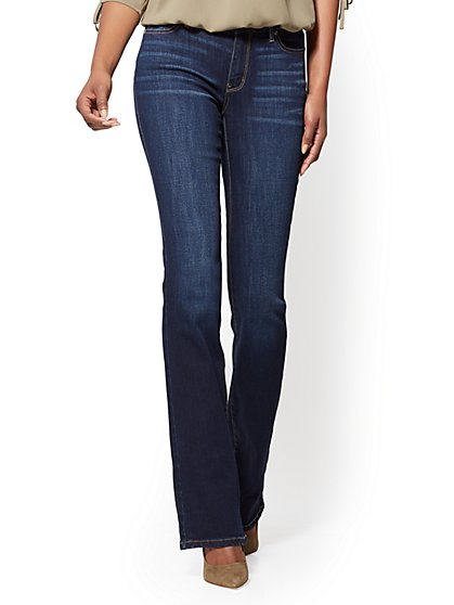 Tall Mid-Rise Curvy Bootcut Jeans - New York & Company