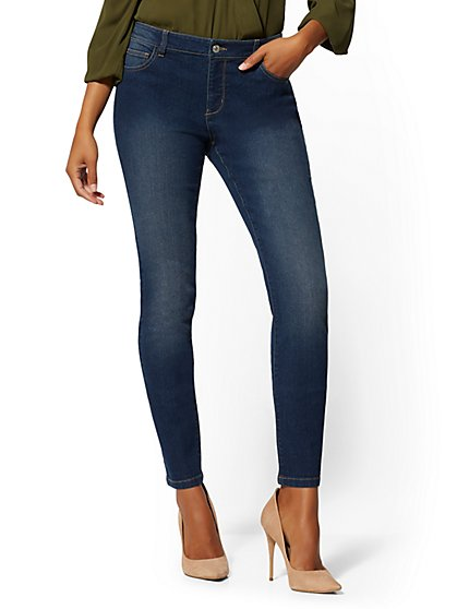 Tall Mid-Rise Essential Skinny Jeans - Blue Honey - New York & Company
