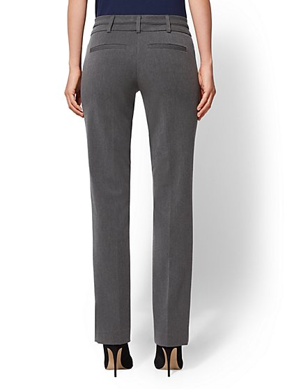 0bf076a52 ... Tall Mid Rise - Straight-Leg Pant - Grey - 7th Avenue - New York