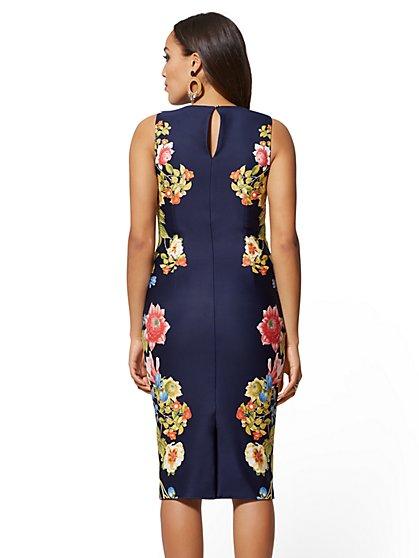 3974f4fc0608 ... Tall Navy Reversible Sheath Dress - New York   Company ...