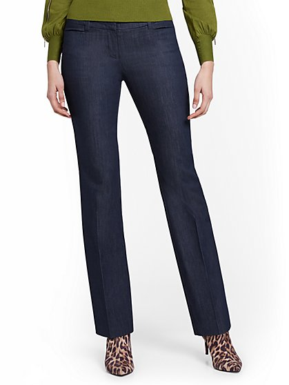 Tall Navy Straight-Leg Pant - New York & Company
