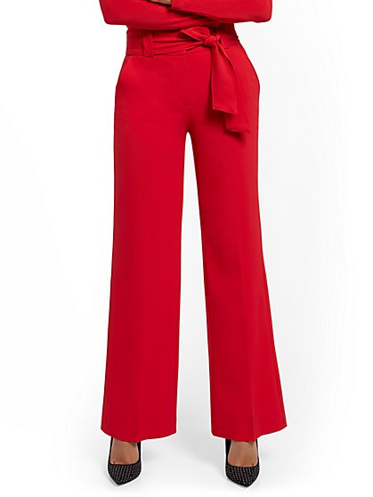 Tall Paperbag-Waist Wide-Leg Pant - 7th Avenue - New York & Company