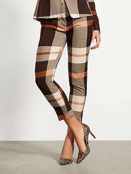 Tall Plaid Slim Ankle Pant - Modern - 7th Avenue - New York & Company