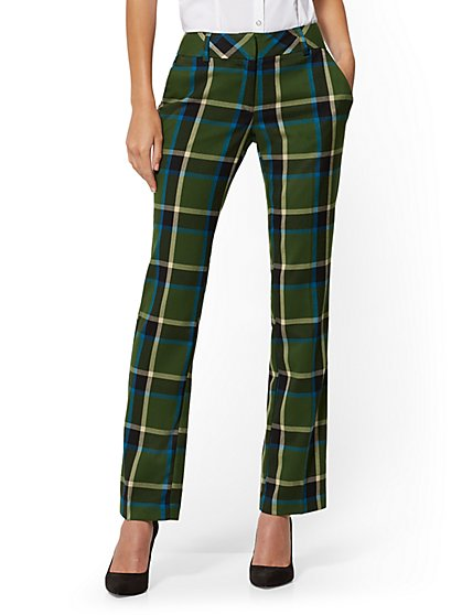 Tall Plaid Straight-Leg Pant - Signature - 7th Avenue - New York & Company