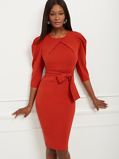 Tall Puff-Sleeve Sheath Dress - New York & Company
