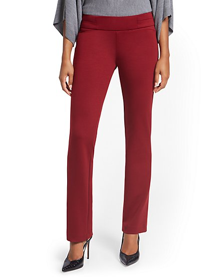 Tall Pull-On Straight-Leg Pant - Superflex - New York & Company