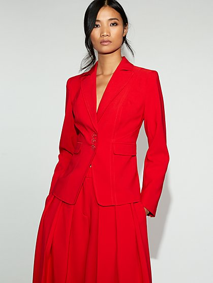 Tall Red Three-Button Jacket - Gabrielle Union Collection - New York & Company