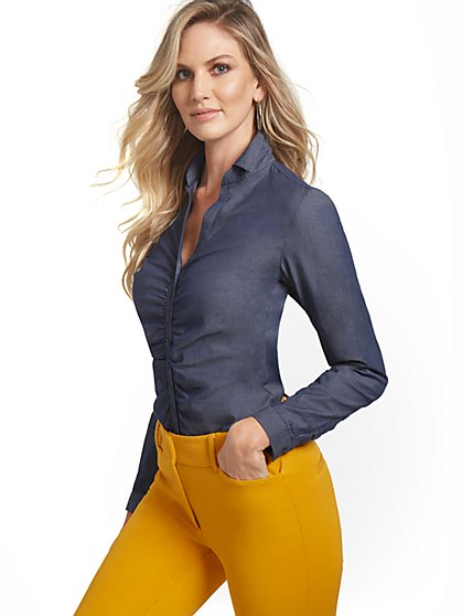 Tall Ruched Madison Shirt - 7th Avenue - New York & Company