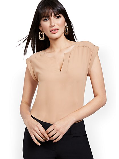 Tall Split-Neck Blouse - 7th Avenue - New York & Company