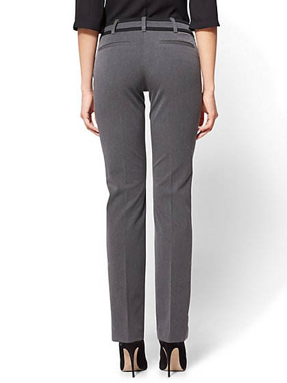 b7dde132712 ... Tall Straight-Leg Pant - Mid Rise - Signature Fit - Grey - 7th Avenue