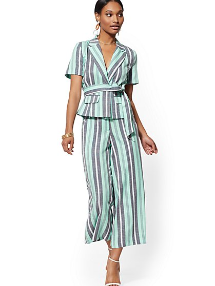 Tall Stripe Madie Crop Pant - 7th Avenue - New York & Company