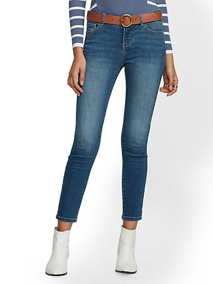 Tall Super-Skinny Ankle Jeans - Blue Society- NY&C Runway - Ultimate Stretch - New York & Company