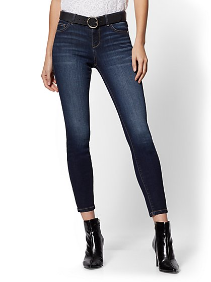 Tall Super-Skinny Ankle Jeans - Bluebird Blue- NY&C Runway - Ultimate Stretch - New York & Company