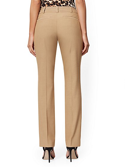 bb034387e7 ... Tall Tan Straight-Leg Pant - Signature Fit - 7th Avenue - New York &