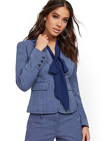 Tall Topstitched Two-Button Jacket - 7th Avenue - New York & Company