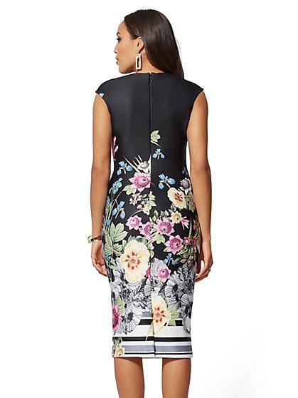 b3e1845db5d ... Tall V-Neck Scuba Sheath Dress - Floral - New York   Company ...