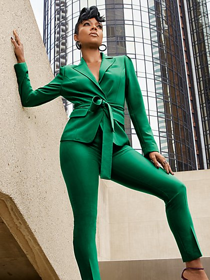 Tall Waist-Inset One-Button Jacket - All-Season Stretch - 7th Avenue - New York & Company