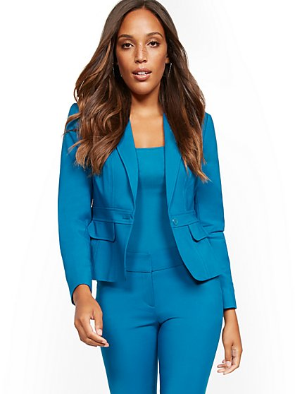 Tall Waist-Inset One-Button Jacket - Modern - All-Season Stretch - 7th Avenue - New York & Company