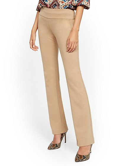 Tall Whitney High-Waisted Pull-On Bootcut Pant - Ponte - 7th Avenue - New York & Company