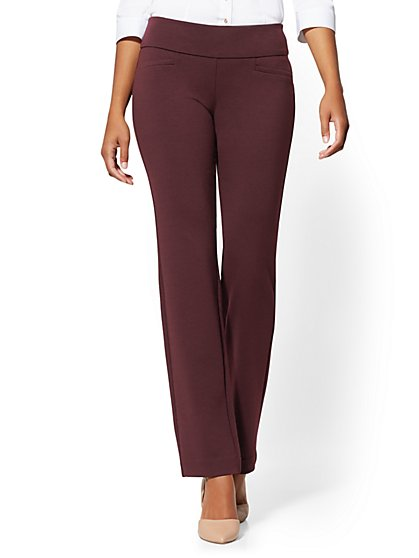 Tall Whitney High-Waisted Pull-On Straight-Leg Pant - Ponte - 7th Avenue - New York & Company