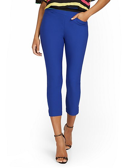 Tall Whitney High-Waisted Tummy Control Pull-On Slim-Leg Capri Pant - New York & Company