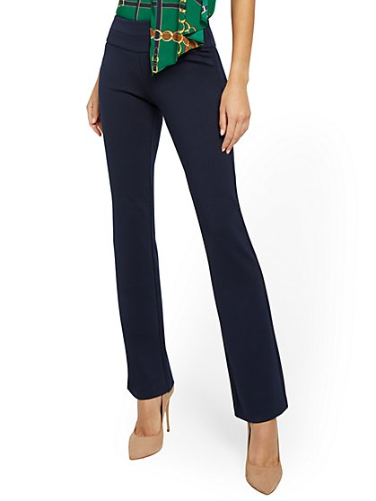 Tall Whitney Pull-On Bootcut Pant - Ponte - 7th Avenue - New York & Company
