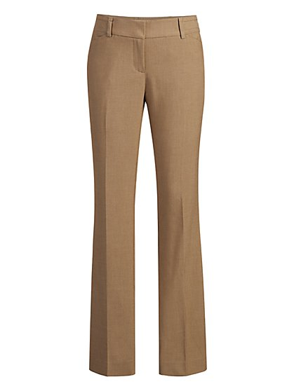 Tan Straight-Leg Pant - Signature Fit - 7th Avenue - New York & Company