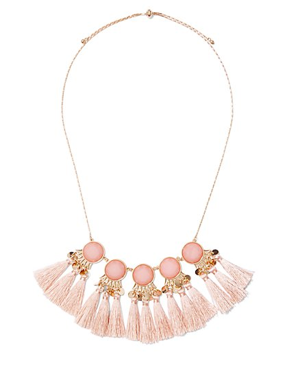 Tassel-Accent Statement Necklace - New York & Company