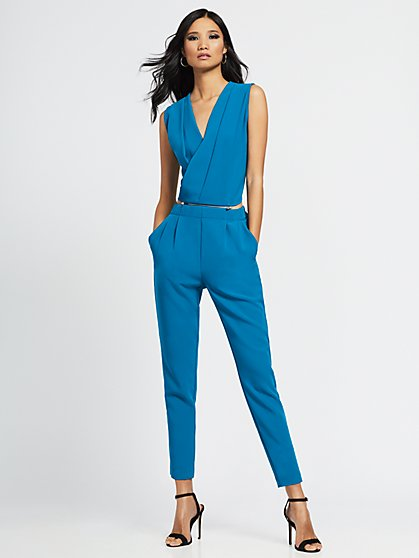 Teal Zip-Off Jumpsuit - Gabrielle Union Collection - New York & Company