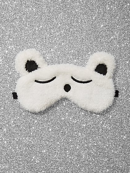 Teddy Bear Faux-Fur Eye Mask - New York & Company