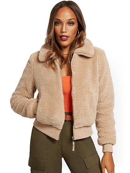 Teddy Bomber Jacket - New York & Company