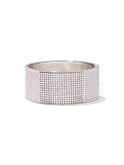 Textured Pave Cuff Bracelet - New York & Company