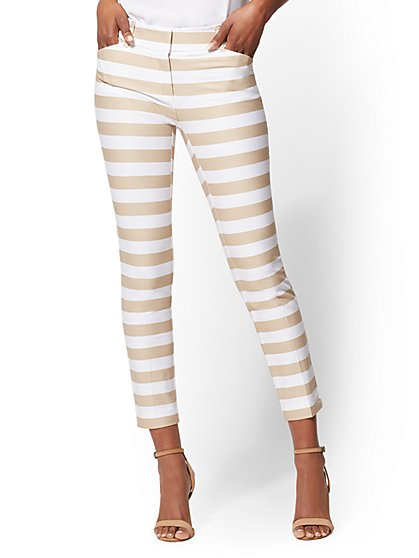 The Audrey Ankle Pant - Slim Leg - Stripe - New York & Company